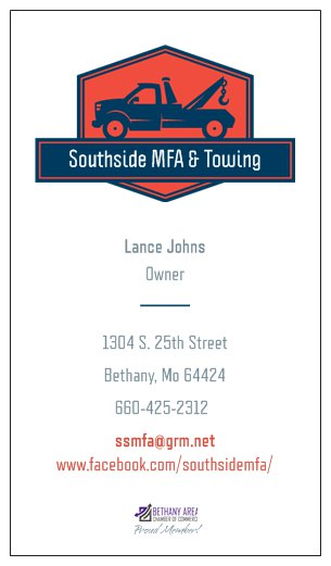 Southside MFA Business Card