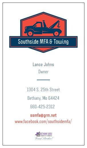 Southside MFA Business Card
